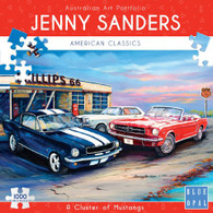 Blue Opal - A Cluster of Mustangs 1000 piece Jenny Sanders BL02028  Box