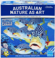 Blue Opal - Oblique-Banded Sweetlips Fish BL02011 box