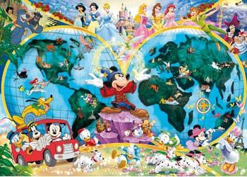 Ravensburger - Disney's World Map Puzzle 1000pc RB15785-3 jigsaw