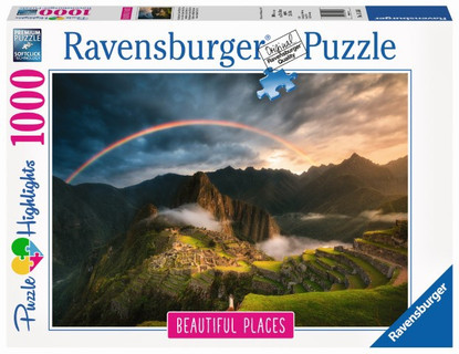 Ravensburger- Rainbow over Machu Picchu Peru 1000 piece RB15158-5
