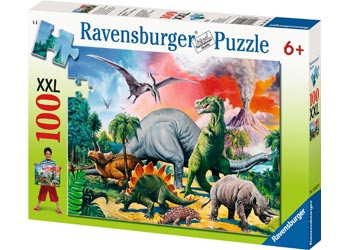Among the Dinosaurs Puzzle 100pc RB10957-9 box