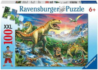 Ravensburger- Dinosaur Age Puzzle 100pc RB10665-3 Box