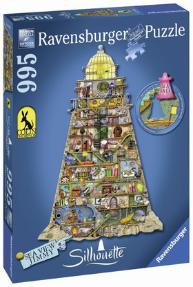 Ravensburger - Silhouette Ludicrous Lighthouse 995 pc RB16098-3