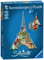 Ravensburger - Silhouette Puzzle Eiffel Tower 960pc RB16152-2