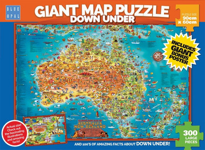 Blue Opal - Down Under Giant Map 300pc BL01880
