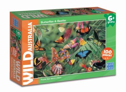 Blue Opal - Wild Australia Butterflies & Beetles 100pc BL01978