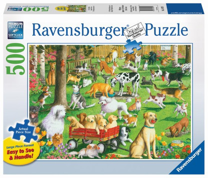 Ravensburger - At The Dog Park Large Format Puzzle 500pc RB14870-7
