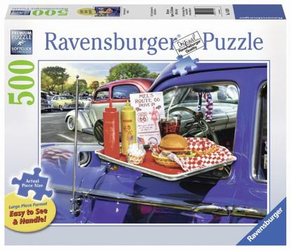 Ravensburger - Drive -Thru Route 66 Large Format Puzzle 500pc RB14920-9