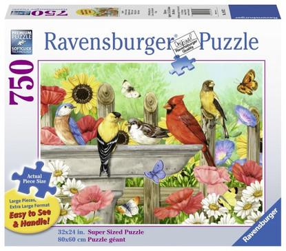 Ravensburger- Bathing Birds Large Format Puzzle 750pc RB19937-2