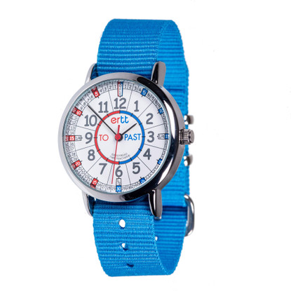 EasyRead Time Teacher Watch - Red/Blue - Past/to - Blue Strap