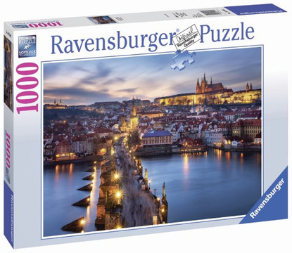 Ravensburger - Prague at Night Puzzle 1000pc - RB19740-8