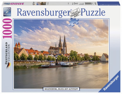 Ravensburger - Old Town Regensburg Puzzle 1000pc RB19781-1