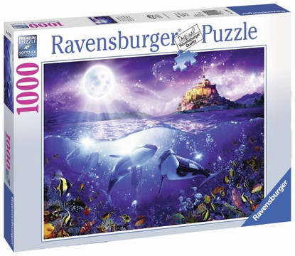 Ravensburger - Whales in the Moonlight Puzzle 1000pc RB19791-0