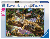 Ravensburger -Leopard Family Puzzle 1000pc RB19148-2