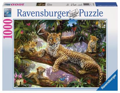 Ravensburger -Leopard Family Puzzle 1000pc RB19148-2