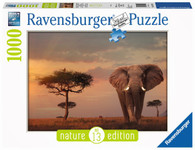 Ravensburger - Elephant of the Massai Mara 1000pc Natures Edition No. 13 RB15159-2