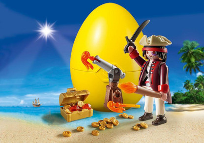 Playmobil - Pirate with Cannon Gift egg (Easter egg) PMB9415