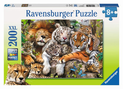 Ravensburger - Big Cat Nap Puzzle 200pc RB12721-4
