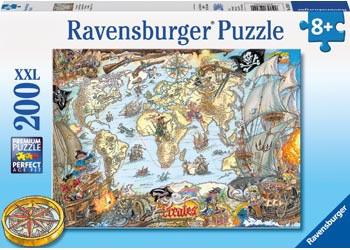 Ravensburger - Pirate's Secret Map Puzzle 200 pc - RB12802-0