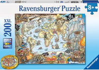 Ravensburger - Pirate's Secret Map Puzzle 200 pc - RB12802-0