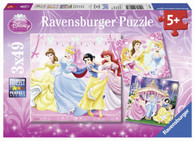 Ravensburger - Disney Princesses Snow White Puzzle 3x49pc RB09277-2
