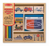 Melissa & Doug - Wooden Vehicle Stamp Set