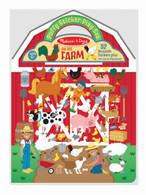 Melissa & Doug - Reusable Puffy Sticker Play Set - On the Farm