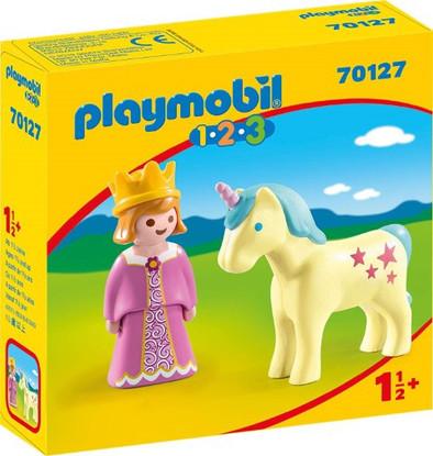 Playmobil - Playmobil 1.2.3 Princess with Unicorn PMB70127 box