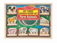 Melissa & Doug - My First Wooden Stamp Set - Farm Animals