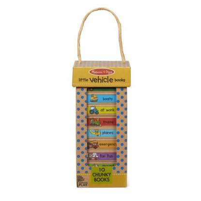 Melissa & Doug - Natural Play - Book Tower - Little Vehicle Books