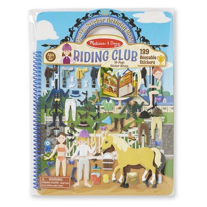 Melissa & Doug - Reusable Puffy Sticker Activity Book - Riding Club