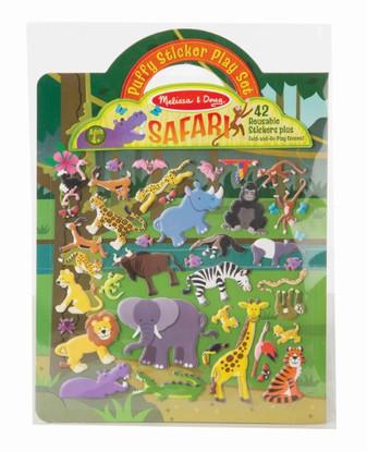 Melissa & Doug - Reusable Puffy Sticker Play Set - Safari