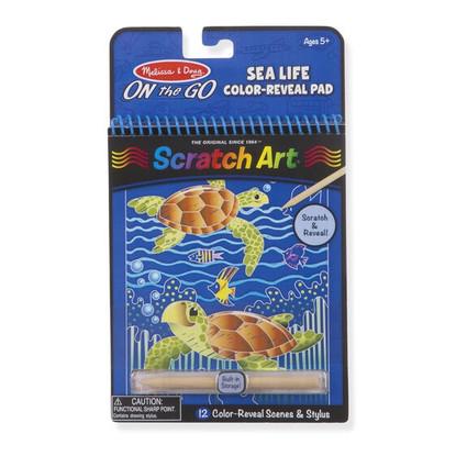 Melissa & Doug - On The Go - Scratch Art - Sealife
