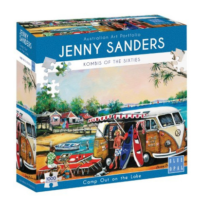 Blue Opal - Camp Out on the Lake 1000 piece Jenny Sanders BL02039 box