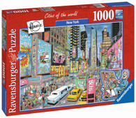Ravensburger - New York Puzzle 1000pc Fleroux Cities RB19732-3