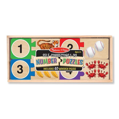 Melissa & Doug - Self Correcting Numbers Wooden Puzzle MND2542