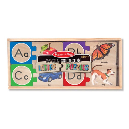 Melissa & Doug - Self Correcting Alphabet Letter Wooden Puzzle MND2541