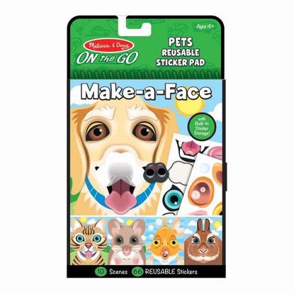 Melissa & Doug - On The Go - Reusable Stickers - Pets MND30512