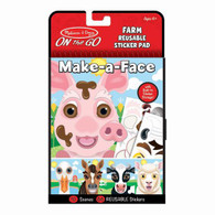 Melissa & Doug - On The Go - Reusable Stickers - Farm