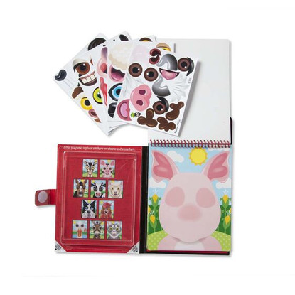 Melissa & Doug - On The Go - Reusable Stickers - Farm  open book