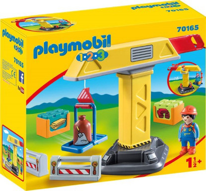 Playmobil 1.2.3 - Construction Crane PMB70165 box