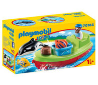 Playmobil 1.2.3 - Fisherman with Boat PMB70183 boxed