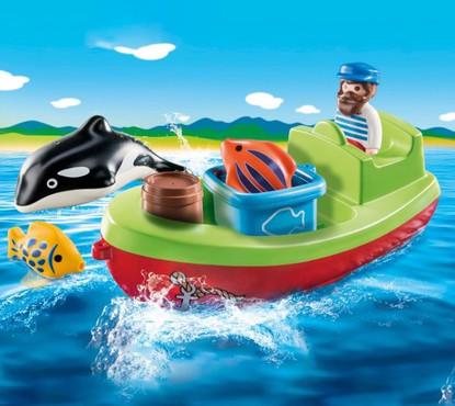 Playmobil 1.2.3 - Fisherman with Boat PMB70183