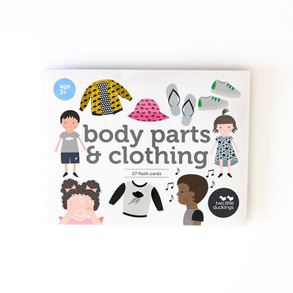 Body parts and clothing flash cards 27 pack - Two Little Ducklings