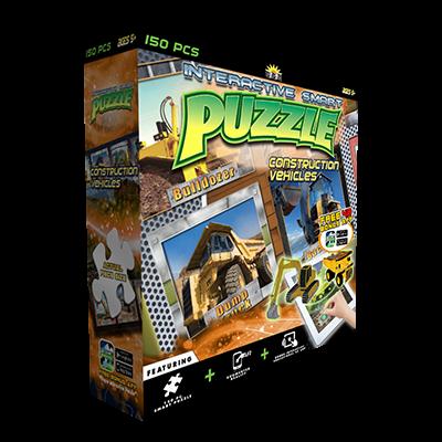 Popar Construction Vehicles 4D Smart Puzzle & App-150 PCS
