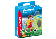 Playmobil- Soccer Player with Goals Special Plus PMB70157