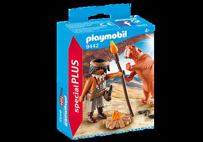 Playmobil - Caveman with Sabertooth Tiger Special Plus PMB9442