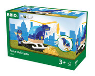 BRIO Vehicle - Police Helicopter, 3 pieces BRI33828 Box