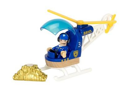 BRIO Vehicle - Police Helicopter, 3 pieces BRI33828