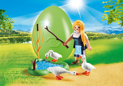 Playmobil - Maiden with Geese Egg (Easter Egg)